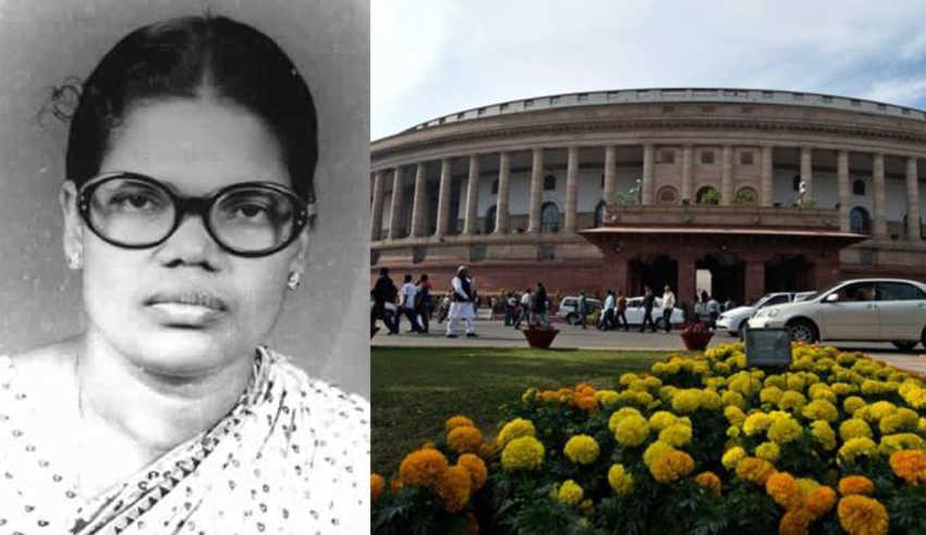 മുന് എംപി ഭാര്ഗവി തങ്കപ്പന്